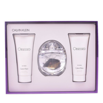 Parfymset Damer Obsessed For Women Calvin Klein (3 pcs)