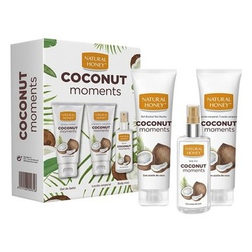 Kit för personlig omvårdnad Coconut Moments Natural Honey (3 pcs)
