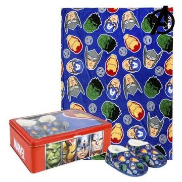 Metallboxen med Filt och Tofflor The Avengers 73666 (3 pcs) Blå