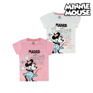 Barn T-shirt med kortärm Madrid Minnie Mouse Rosa,10 år