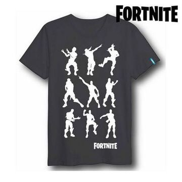 Barn T-shirt med kortärm Fortnite 75061 Svart