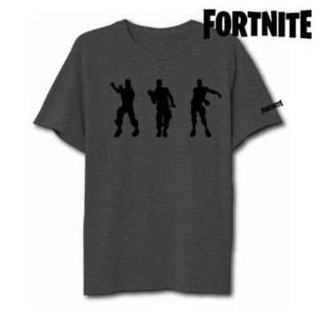 Barn T-shirt med kortärm Fortnite 75063 Grå