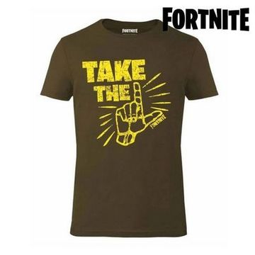 Barn T-shirt med kortärm Fortnite 75064 Khaki