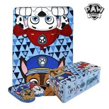 Metallboxen med Filt och Tofflor The Paw Patrol 70792 (3 pcs)