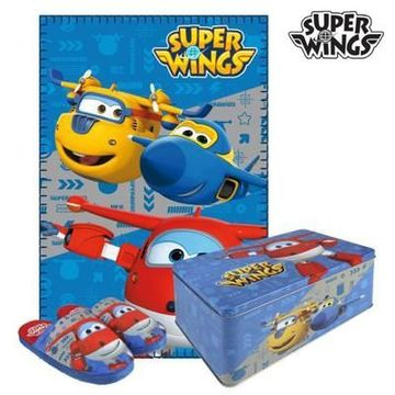 Metallboxen med Filt och Tofflor Super Wings 70793 (3 pcs) 3 pcs