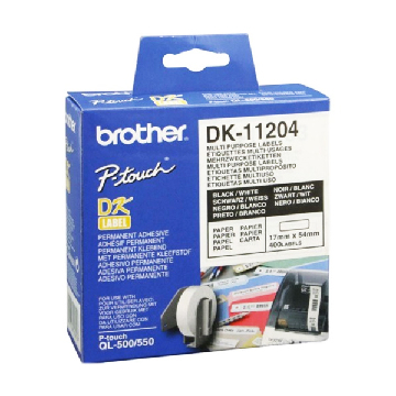 Etiketter till Multiskrivare Brother DK-11204 17 x 54 mm Vit