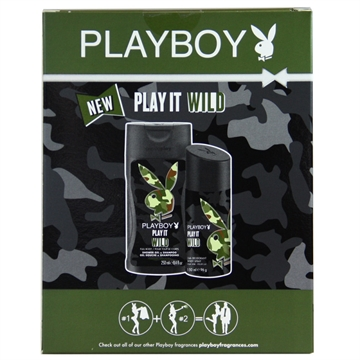 Playboy Play it wild pack deodorant & gel 150 ml + 250 ml