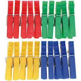 Clothes Pins 20pcs ea. 7.2cm Colours Asstd.