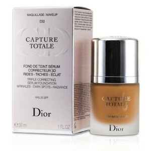 DIOR CAPTURE TOTALE TRIPLE CORRECTING SERUM FOUNDATION - WRINKLES - DARK SPOTS #030 Medium Beige SPF 25 30ml