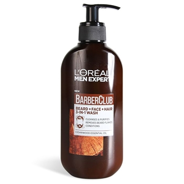 L'ORÉAL  Men Expert Barber Club Beard+Face+Hair Wash 200ml
