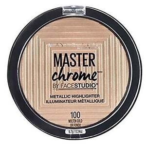 Maybelline Master Chrome Metal Highlighter 100 Molten Gold 9G