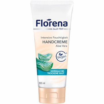 Florena Hand Cream 100ml Aloe Vera Tube