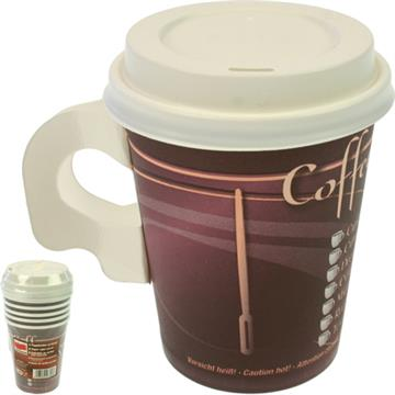 Party Cup Coffee To Go 6pcs 0.2l with Lid