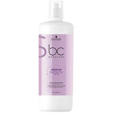 Bonacure Keratin Smooth Perfect Shampoo 1000ml Micellar For Unmanageable Hair