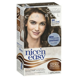 CLAIROL NICE N EASY NATURAL LIGHT ASH BROWN 6A