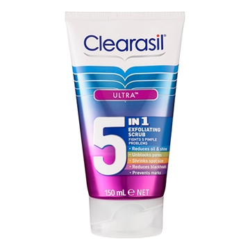 Clearasil Ultra 5In1 Exfoliating Scrub 150ml