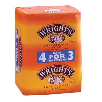 Wrights Soap Bar 4 For 3 125Gm