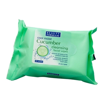 Beauty Formulas Facial Wipes Cucumber 30S