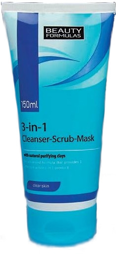 Beauty Formulas 3In1 Cleanser/Scrub/Mask 150ml