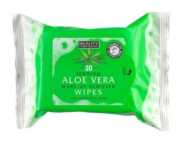 Beauty Formulas Foaming Aloe Vera Make-Up Wipes 30'S