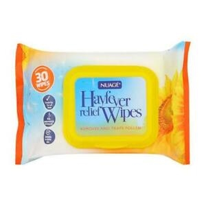 Nuage Hayfever Relief Wipes 30'