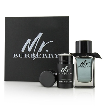 Mr Burberry Giftset Eau de Toilette Spray 100ml Deodorant Stick 75g