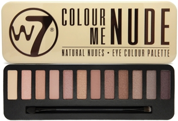 W7 Cosmetics In The Nude Eye Colour Palette 15.6g Selection of 12 Natural Shades