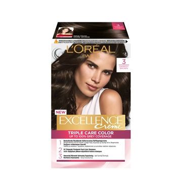 L'ORÉAL  Excellence 3 Darkest Brown 3 192ML