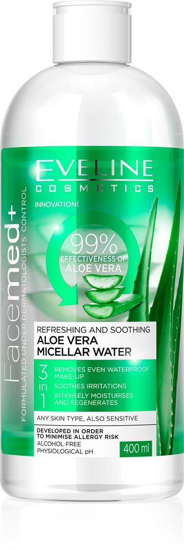 Facemed+ Aloe Vera Micellar Water 400ml