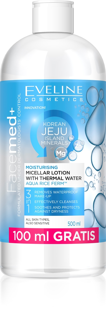 Facemed+ Moisturising Micellar Lotion With Thermal Water 500ml