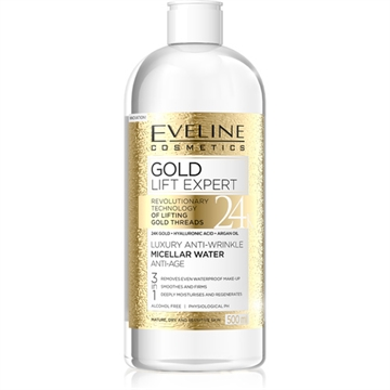 Eveline Gold Lift Expert Luxury Anti-Wrinkle Micellar Water Anti-Age 3In1 500ml