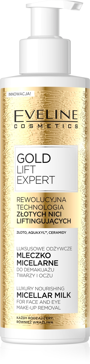 Gold Lift Expert Luxury Nourishing Micellar Milk For Face&Eye 200ml