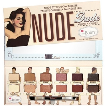 The Balm Nude Dude Eyeshadow Palette 9,6gr Volume 2 - Shadow Liner Brush