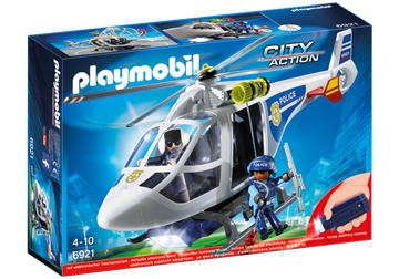 Playmobil Polishelikopter med LED-sökljus 6921