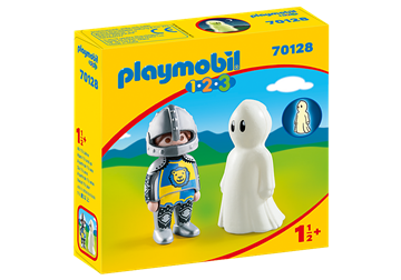 Playmobil 1.2.3 Knight with Ghost 70128