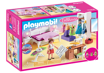 Playmobil Dollhouse Bedroom with Sewing Corner  70208