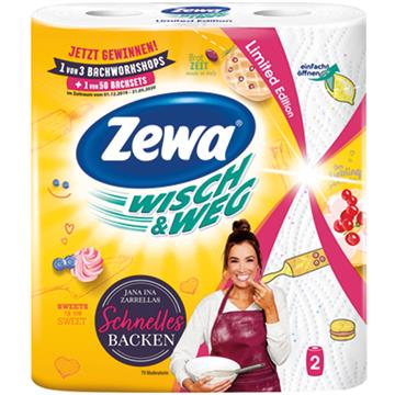 Zewa kitchen towels 2x72 sheets Fun Design