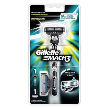Gillette Mach3 men's razor Black,Stainless steel