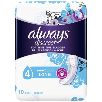 Always Discreet Pads Long 10'S