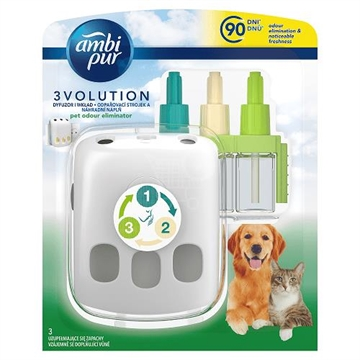 Ambipur 3volution electric diffuser + refill 20 ml Pet odour eliminator