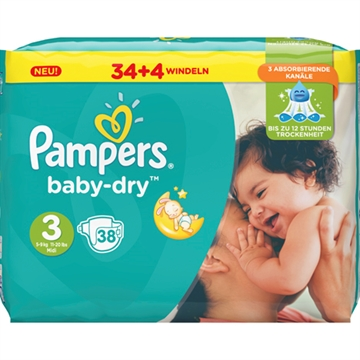 Pampers Baby Dry Size 3 Midi 5-9kg 42 pcs