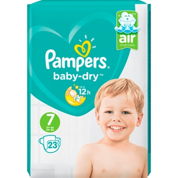 Pampers Baby Dry Size 7 15+kg 24's
