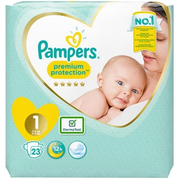 Pampers diapers newborn 2-5kg 26 pcs