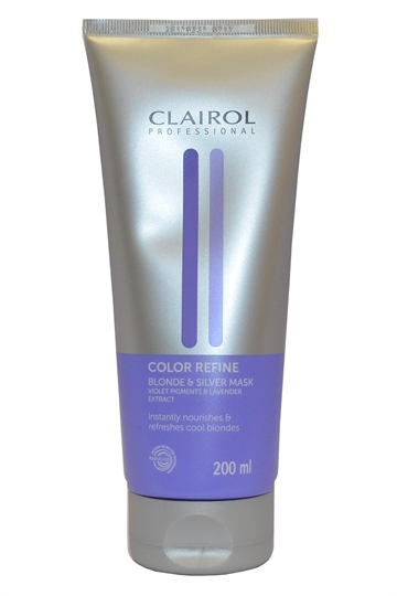 Clairol Professional Color Refine Hair Mask Blonde/Silver 200ml Violet Pigments & Lavender
