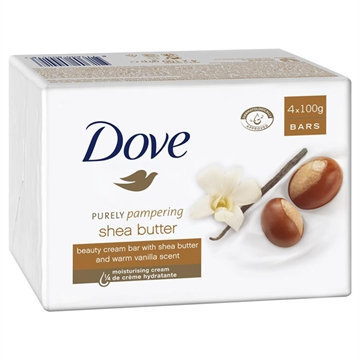 Dove Soap Bar Shea Butter 4Pk 100Gm