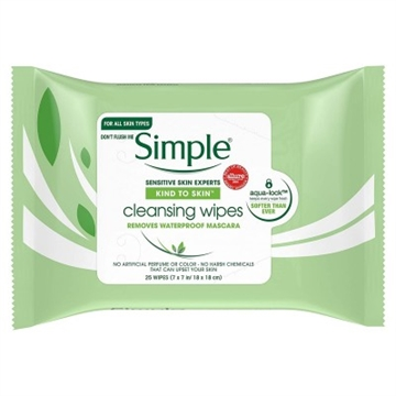 Simple Biodegradable Cleansing Wipes 20'S