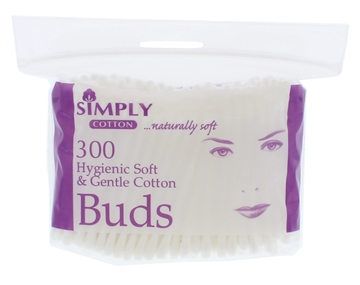 SIMPLY COTTON BUDS ZIP BAG 300'S