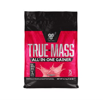 BSN True Mass All in One - strawberry milkshake 4,2kg
