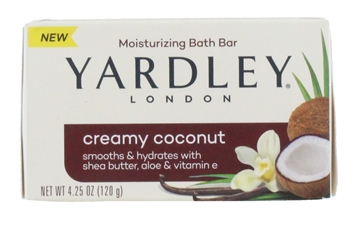 Yardley 120G Soap Creamy Coconut Boxed