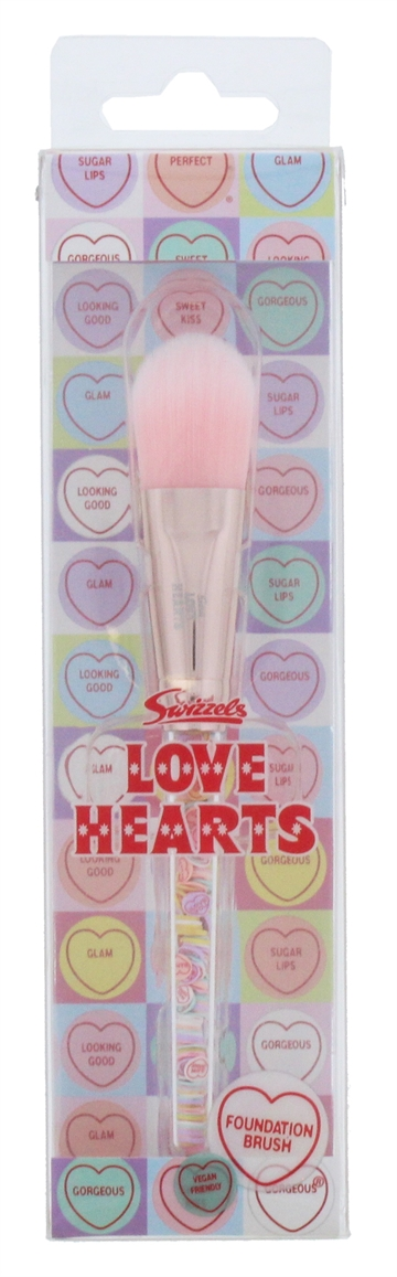 Love Hearts Filled Foundation Brush